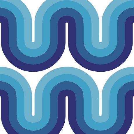 <受注販売> Vision Blue ファブリック (幅145cm x 長さ120cm)