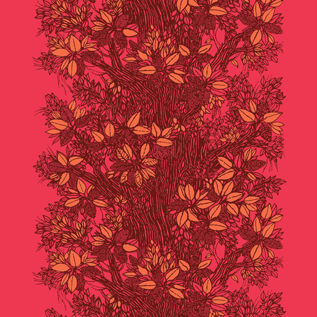 <受注販売> Träd Red ファブリック (幅146cm幅 x 長さ120cm)