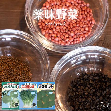 薬味野菜セット(だいこん/ねぎ/しそ) / 送料込 種セット 21g ギフト