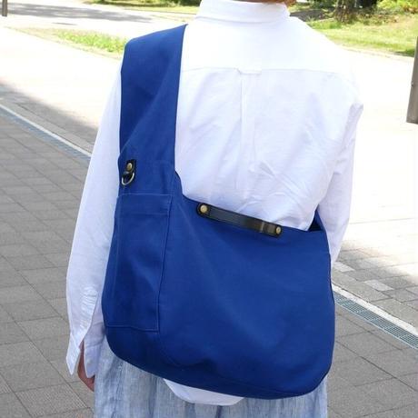 2WAYメッセンジャーバッグ/花紺(倉敷帆布+栃木レザー使用)