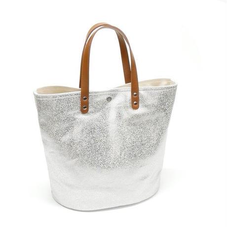 箔プリントトートバッグ / ブラウン / Lサイズ(茂木商工コラボ商品)