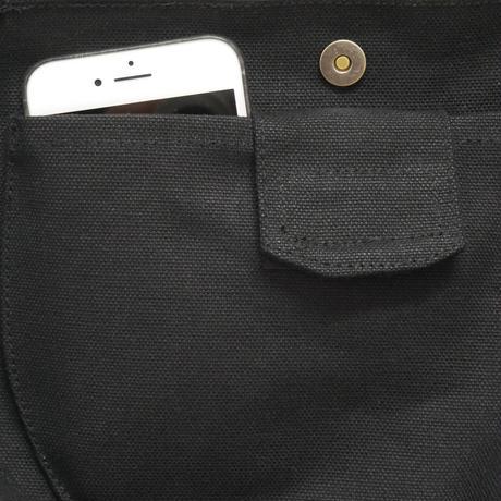 線画プリントミニバッグ / ブラック