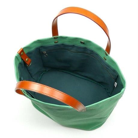 サコッシュ付きトートバッグ/スモーキーグリーン(倉敷帆布+栃木レザー使用)