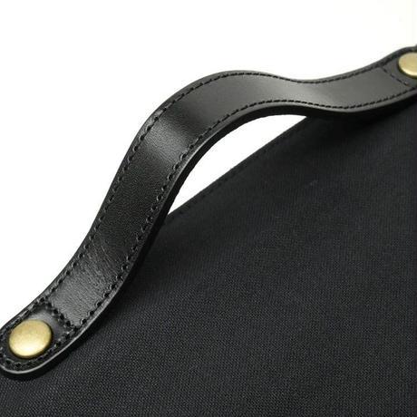 2WAYメッセンジャーバッグ/ブラック(倉敷帆布+栃木レザー使用)