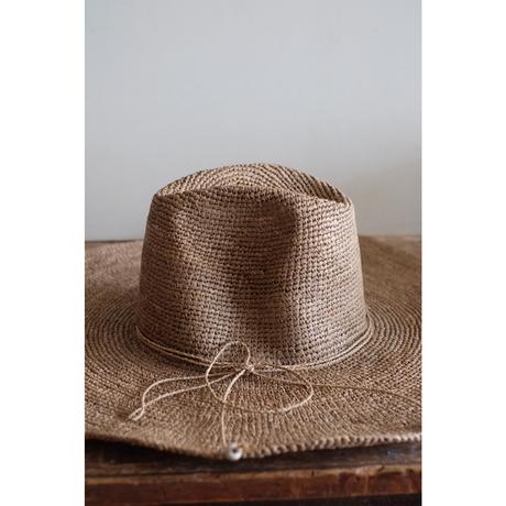 MADE IN MADA  つばの広い帽子 AZIZ/tea