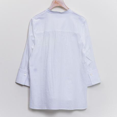 【Dw2R】(11147421)綿シフォンロゴ刺繍いりブラウスNorieM#44 P.118掲載