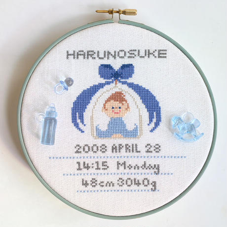 No. 044. Baby Sampler ~Blue~ DL版