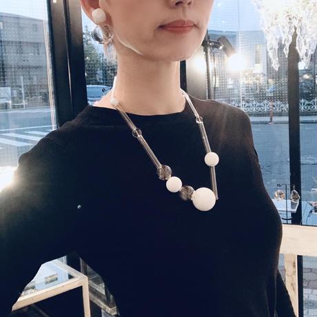 Bon Tube Necklace White / ボンチューブネックレス   ホワイト