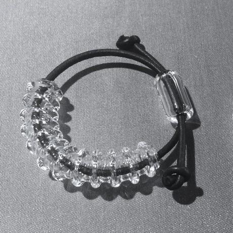 凹凸Tube Bracelet White  / 凹凸チューブブレスレット