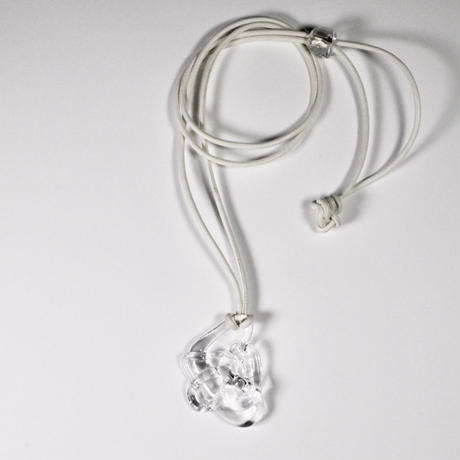 Blink leather Necklace White / ブリンクレザーネックレス ホワイト