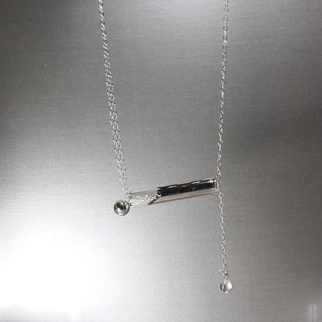 Platinum Ball Bar Necklace / プラチナボールバーネックレス