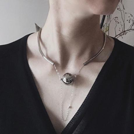 Tube Curve  Necklace Platinum / チューブカーブネックレスプラチナ