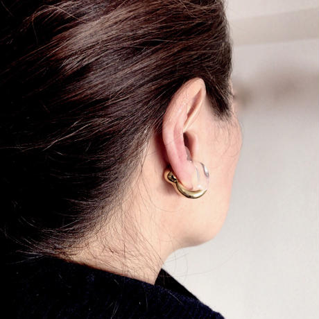 Round Ear cuff  Gold / ラウンドイヤカフ ゴールド
