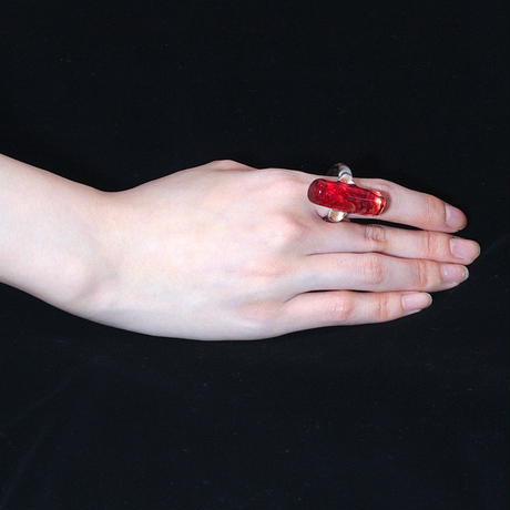[追加製作しました] Square Ring Red / スクエアリング レッド
