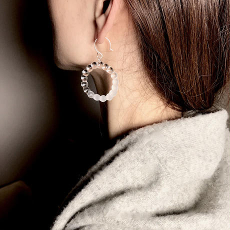 Bubble Earrings L / バブルピアス L