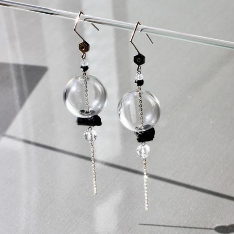 Bonbon Lantern Earring  Black D / ボンボンランタンイヤリング ブラックダイヤモンド