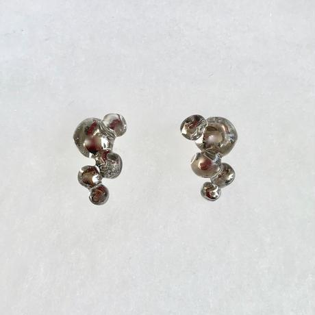 Bubbly Cube Earrings Platinum / キューブボールピアス プラチナ