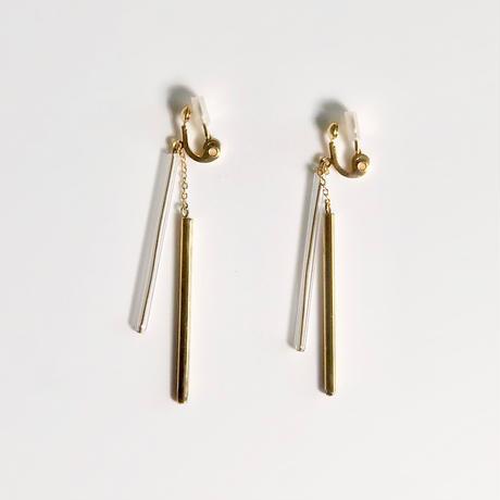 Double Tube Earrings Gold /ダブルチューブイヤリング ゴールド
