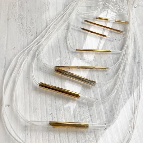 Tube string Necklace  Gold / チューブストリングネックレス ゴールド