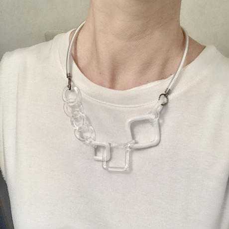 Mix Short Necklace White / ミックスショートネックレス ホワイト