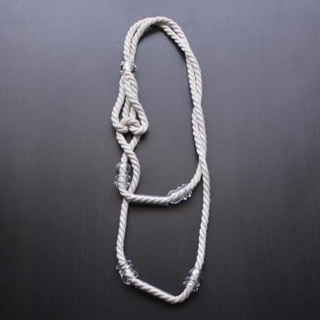 凹凸Tube Rope Neckalce  / 凹凸チューブロープネックレス
