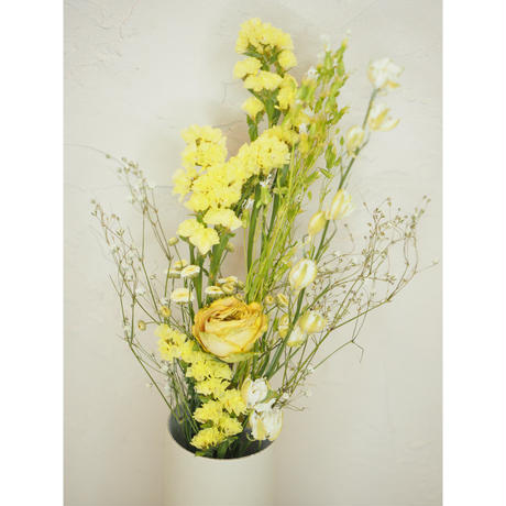 Flower vase + Colorful flowers set