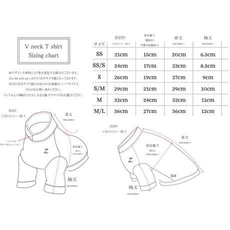 オーガニックコットン VネックTシャツ SS, SS/S , S , S/M size