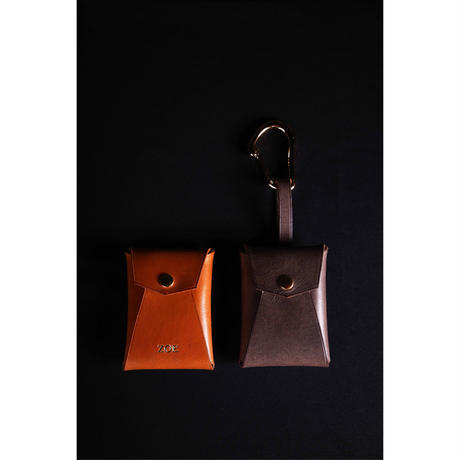 Leather multi case strap with strap and karabiner