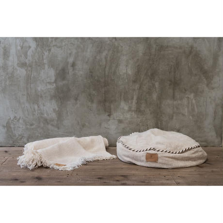 "Organic Cotton ""Garabou""×Hemp Bed Cushion"