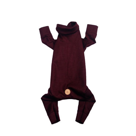 Bordeaux Wool Knit Rompers <SS ~ S>