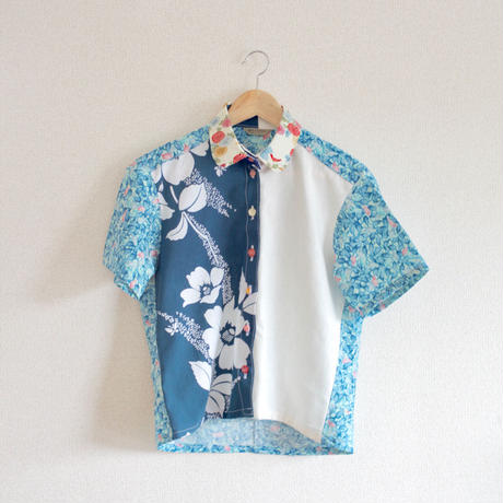 2 color flower summer shirt (no.157)