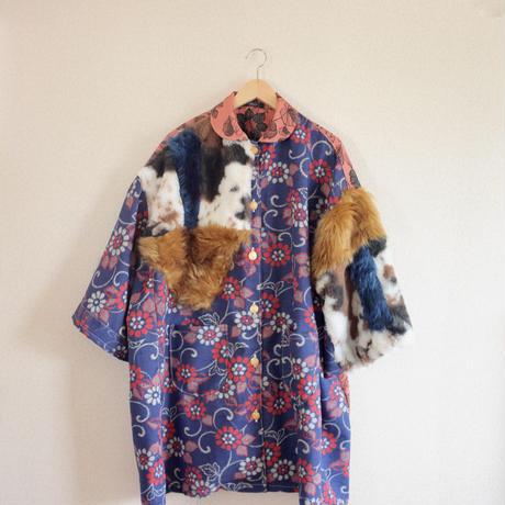 Oversized Kimono Fur Jacket (no.353)