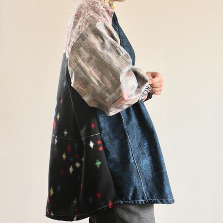 Boyish x unique patchwork Kimono oversized shirt (no.230)