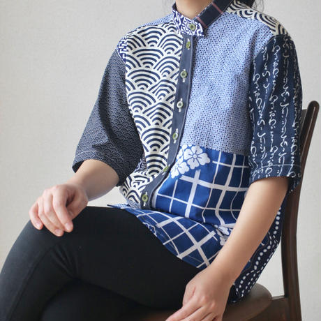 Unisex patchwork shirt (no.047)