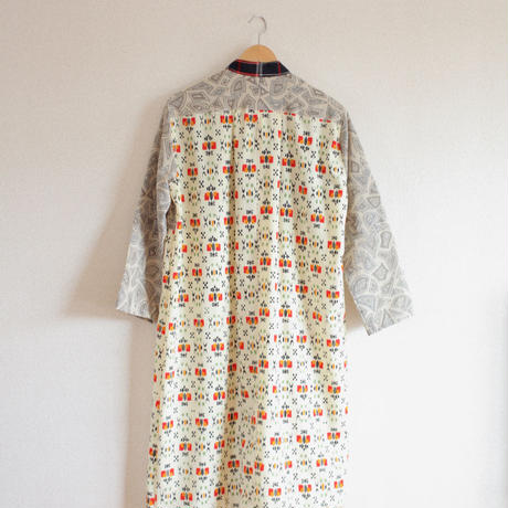 Abstract pattern 2 Kimonos Long Jacket Dress (no.276)