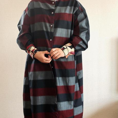 3 color kimono long shirt dress (no.215)