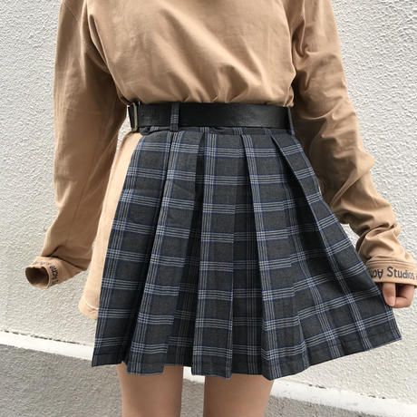 Design check skirt + Belt