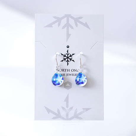 <Crystal Snowセット> ネックレス+ピアス/イヤリングSサイズ