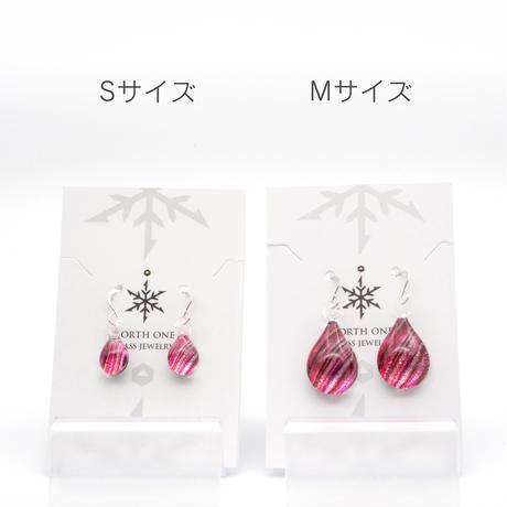 ピアス/イヤリングSサイズ Pink Line[PDS-P-001/EDS-P-001]