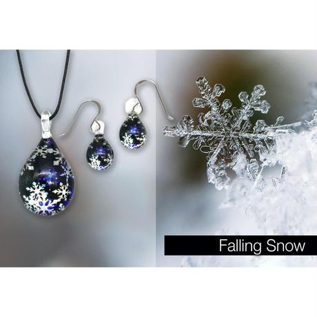 <Falling Snowセット> ネックレス+ピアスSサイズ