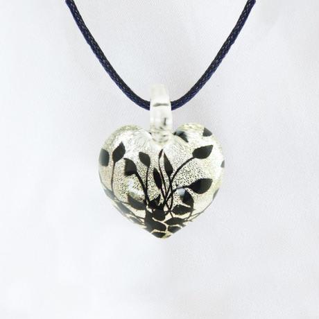 ハート型Mサイズ  Silver Leaf
