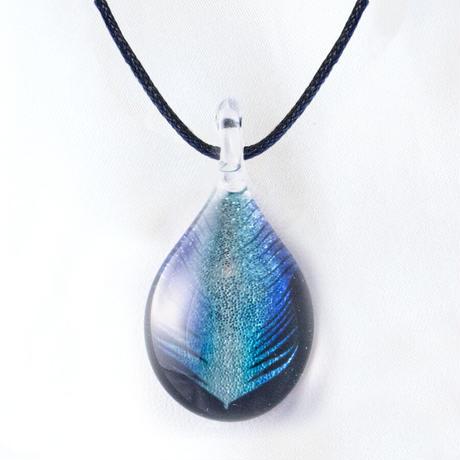 【秋限定】 Blue Feather <JINJAR GLASS JEWELRY> [JPMW-034]