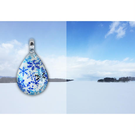 ドロップMサイズ Blue Snow Pattern [NDM-B-040]