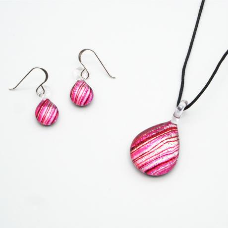 <Pink Line セット> ネックレス+ピアスSサイズ