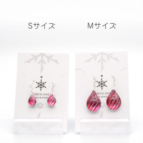 <Pink Line セット> ネックレス+ピアスMサイズ