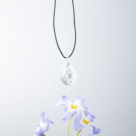 ドロップMサイズ Flower Pattern Blue [NDM-B-046]