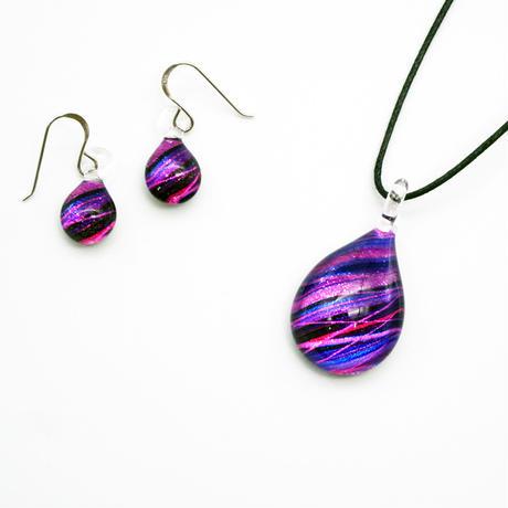 <Purple Line セット> ネックレス+ピアスSサイズ