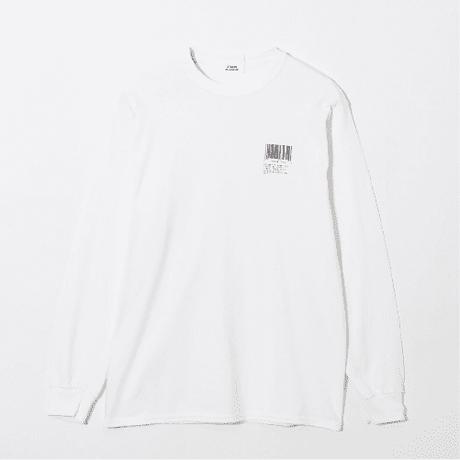 STUDIO BLANCHE BARCORD PRINT LONG SLEEVE Tシャツ