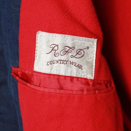1960's~ RFD COUNTRY WEAR VAT DYED DENIM TAILORD JACKET (38 R) バットダイデニム 3ボタン テーラードジャケット
