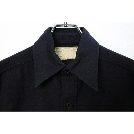 40's NAVAL CLOTHING FACTORY ONE-POCKET CPO WOOL SHIRT (14 1/2) ナーバル 片ポケ CPO ウールシャツ